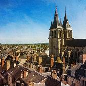 France, Centre, Loir-et-Cher, Blois, Cityscape and Saint Nicolas Church