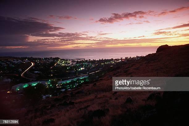 France, Chamonix at twilight