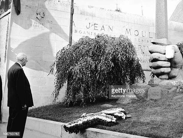 France Chartres General De Gaulle Before The Memorial Of Jean Moulin In 1965