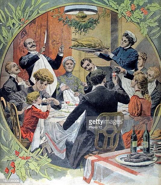 France Christmas Eve family dinner In 'Le Petit Journal'