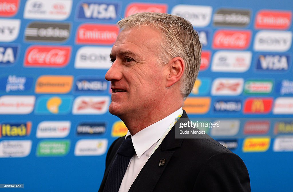 France coach <a gi-track='captionPersonalityLinkClicked' href=/galleries/search?phrase=Didier+Deschamps&family=editorial&specificpeople=213607 ng-click='$event.stopPropagation()'>Didier Deschamps</a> arrives for the Final Draw for the 2014 FIFA World Cup Brazil at Costa do Sauipe Resort on December 6, 2013 in Costa do Sauipe, Bahia, Brazil.