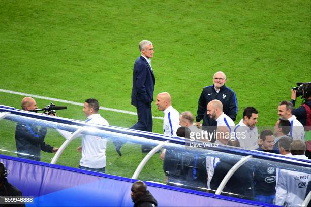 France coach Didier Deschamps at the end of the Fifa 2018 World Cup qualifying match between France and Belarus on October 10 2017 in Paris France