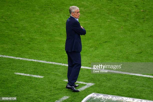France coach Didier Deschamps during the Fifa 2018 World Cup qualifying match between France and Belarus on October 10 2017 in Paris France