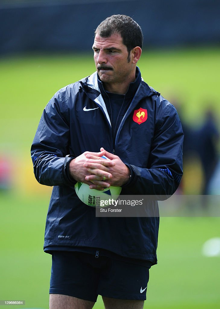 France coach <a gi-track='captionPersonalityLinkClicked' href=/galleries/search?phrase=Marc+Lievremont&family=editorial&specificpeople=2726997 ng-click='$event.stopPropagation()'>Marc Lievremont</a> looks on during a France IRB Rugby World Cup 2011 training session at Onewa Domain on October 20, 2011 in Takapuna, New Zealand.