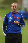 France coach Philippe SaintAndre during a France rugby training session at North Harbour outside field on May 31 2013 in Auckland New Zealand