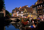 France Colmar Canal Halftimbered Houses