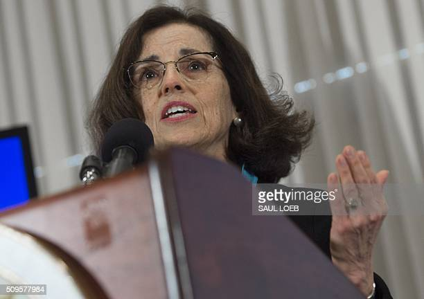 France Cordova director of the National Science Foundation speaks during an announcement that scientists have observed the ripples in the fabric of...