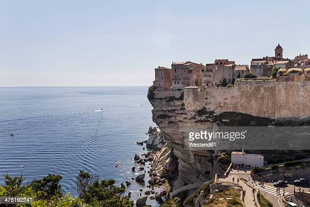 France, Corsica, Bonifacio, on chalk cliffs