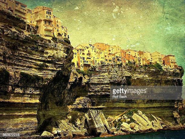 France, Corsica, chalk-cliff from Bonifacio