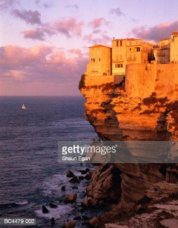 France, Corsica, Corse-du-Sud, Bonifacio and cliffs : Stock Photo