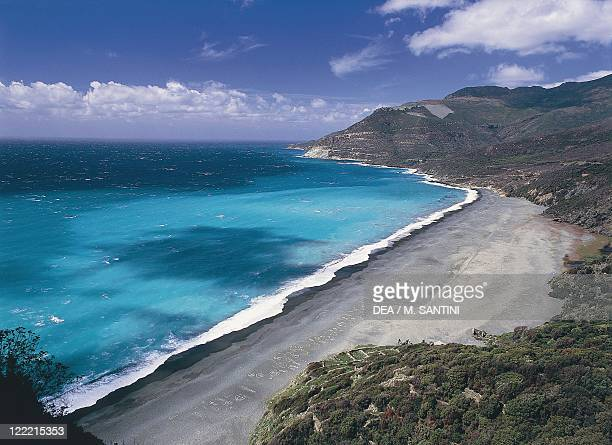 France Corsica HauteCorse Nonza Black beach
