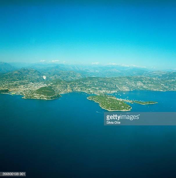 France, Cote d'Azur, Nice coastline, aerial view