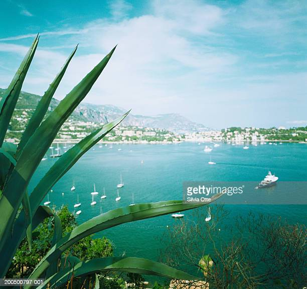 France, Cote d'Azur, Villefranche-sur-Mer, boats in bay
