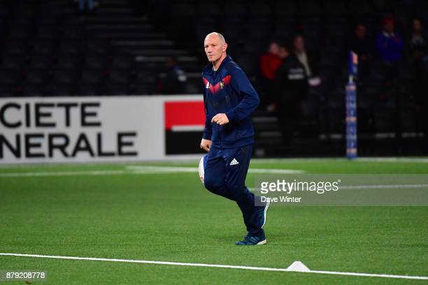 France defence coach Gerald Bastide before the test match between France and Japan at U Arena on November 25 2017 in Nanterre France
