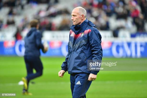 France defence coach Gerald Bastide during the test match between France and South Africa at Stade de France on November 18 2017 in Paris France