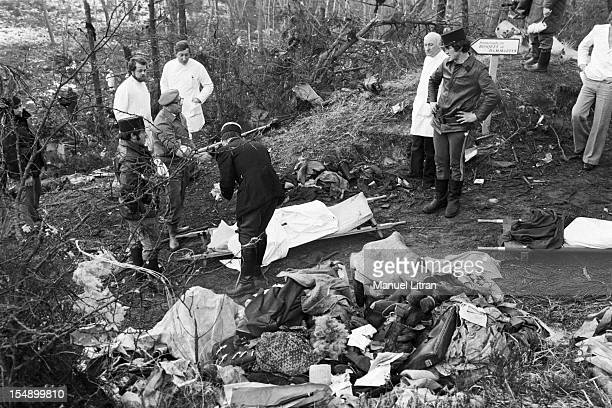 France Ermenonville March 4 The plane 'McDonnell Douglas DC10' of Turkish Airlines has crushes the previous day in the forest of Ermenonville shortly...