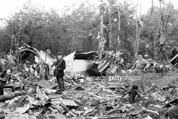 France Ermenonville March 4 The plane 'McDonnell Douglas DC10' of Turkish Airlines is crushes the previous day in the forest of Ermenonville shortly...