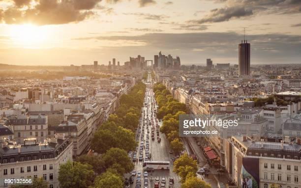 France, Europe, Paris Cityscape Panorama With La Defense