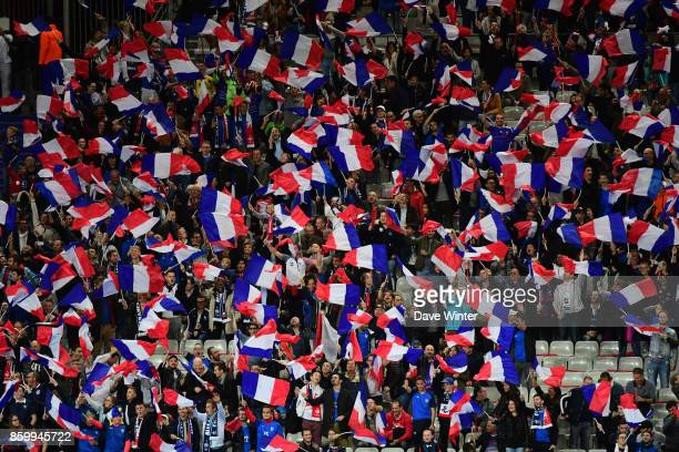 France fans during the Fifa 2018 World Cup qualifying match between France and Belarus on October 10 2017 in Paris France