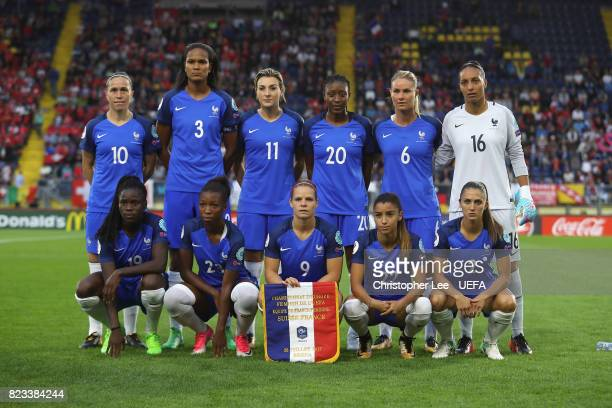 France first eleven during the UEFA Women's Euro 2017 Group C match between Switzerland and France at Rat Verlegh Stadion on July 26 2017 in Breda...