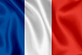 France flag waving background