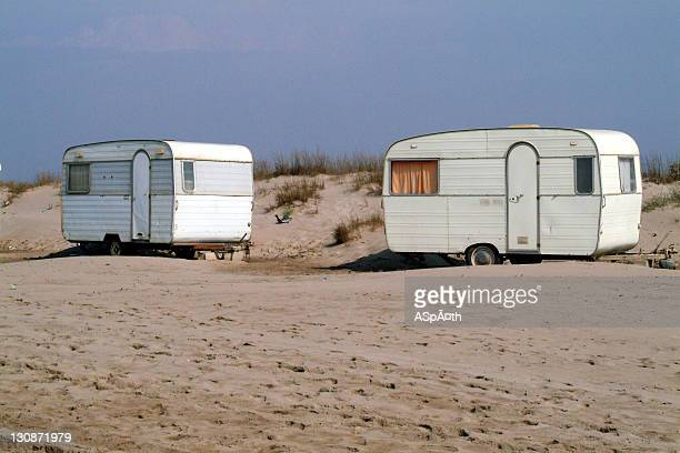 France, FRA, France: On a camping site on the mediterranean coast in France.