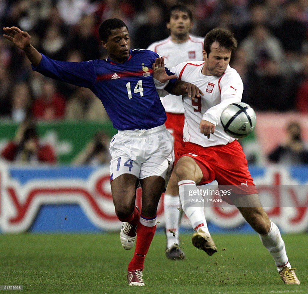 French midfielder Patrice Evra L vies