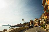 France, French Riviera, Villefranche-sur-Mer, street scene