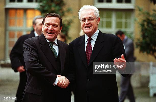 France Germany Summit In Paris France On November 30 1999 Gerhard Schroder and Lionel Jospin