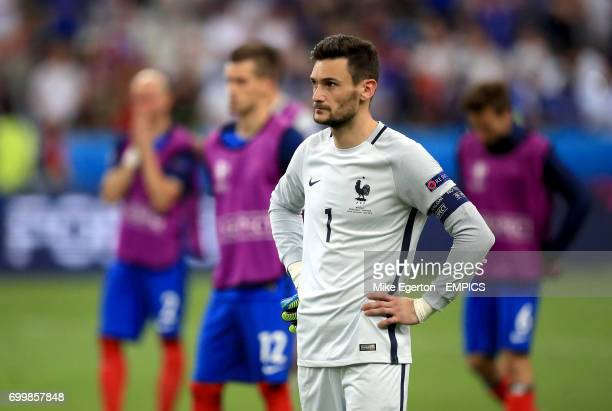 France goalkeeper Hugo Lloris looks dejected after the game