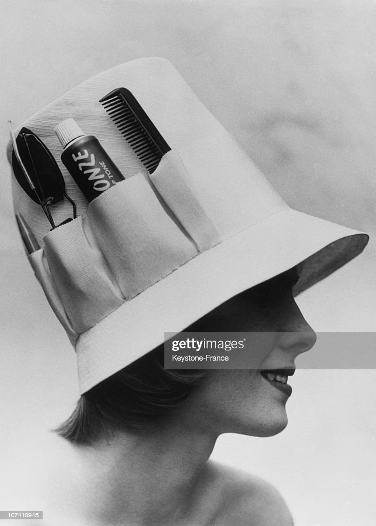 France, Hat With Beauty Pockets In France In 1960
