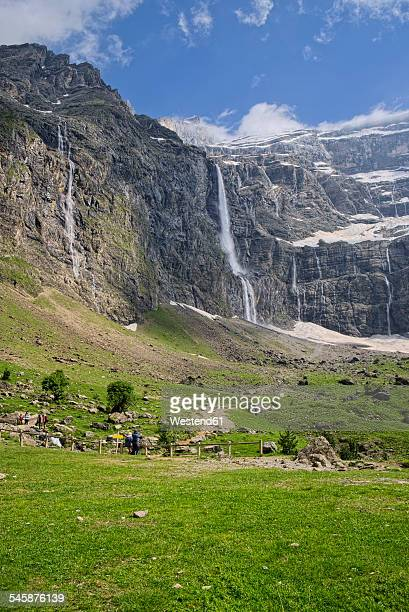 France, Hautes-Pyrenees, Pyrenees National Park, View to Cirque de Gavarnie