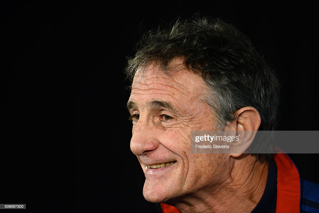 France head coach <a gi-track='captionPersonalityLinkClicked' href=/galleries/search?phrase=Guy+Noves&family=editorial&specificpeople=576406 ng-click='$event.stopPropagation()'>Guy Noves</a> during a press conference at National Center of Rugby in Marcoussis, on February 18, 2016 in Paris, France. The press conference will announce the team members selected for France's Six Nations rugby match against Ireland in Paris on February 13.