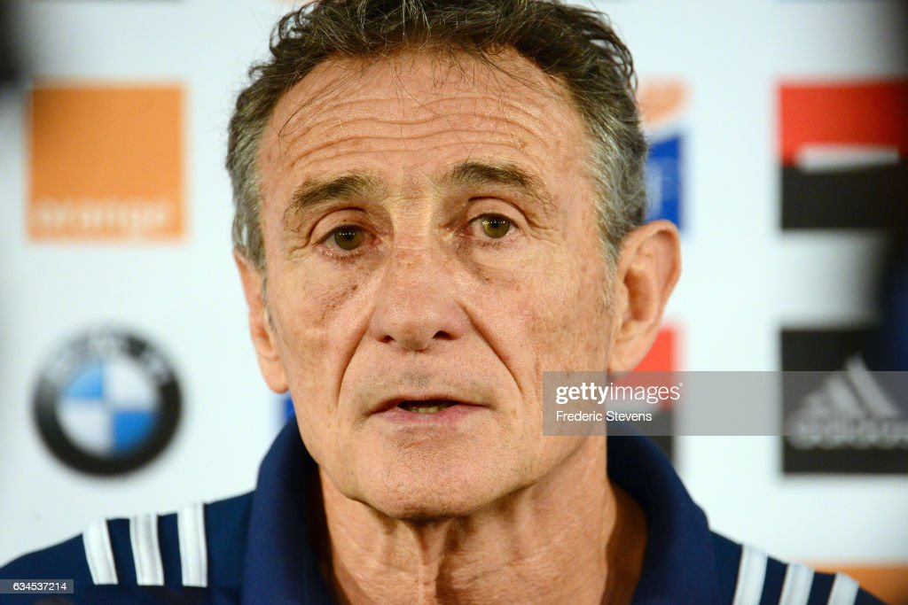 Guy Noves Gives A Press Confrence Prior The Scotland France Rugby Match
