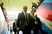 France Head Coach Philippe SaintAndre walks down the tunnel at the end of the match during the 2015 Rugby World Cup Quarter Final match between New...