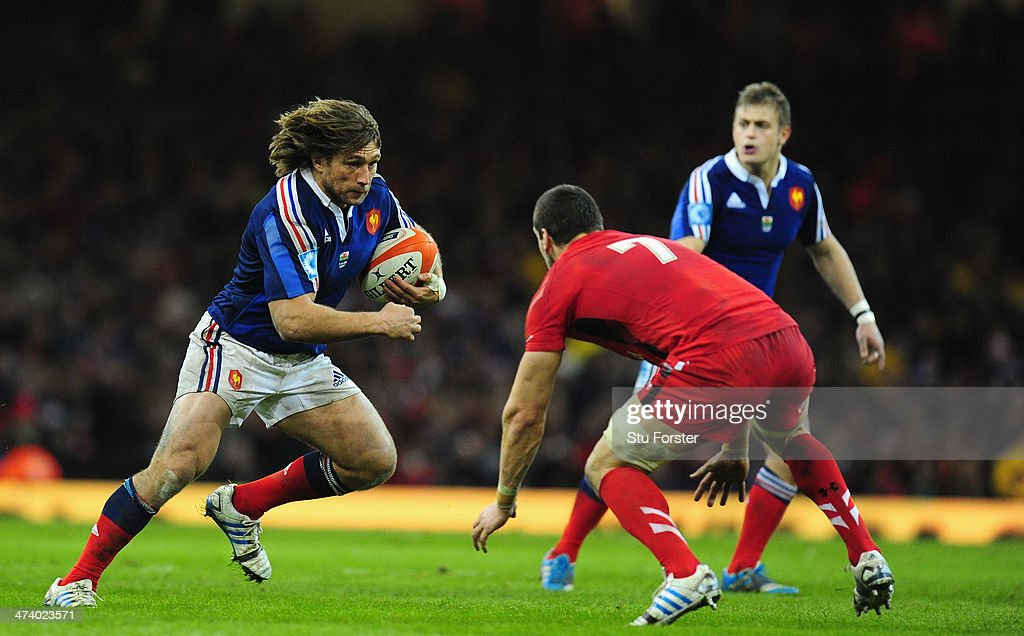 France hooker <a gi-track='captionPersonalityLinkClicked' href=/galleries/search?phrase=Dimitri+Szarzewski&family=editorial&specificpeople=543871 ng-click='$event.stopPropagation()'>Dimitri Szarzewski</a> in action during the RBS Six Nations match between Wales and France at Millennium Stadium on February 21, 2014 in Cardiff, Wales.