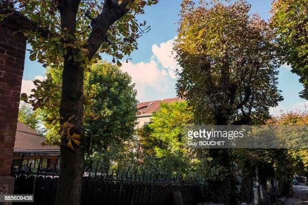 France, Ile de France, Seine Saint Denis, Le Pre Saint Gervais, the villa du pre, the Marronniers avenue