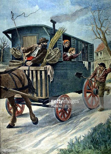France In PontaMousson a little girl being kidnapped by gypsies In 'Le Petit Journal' 221902