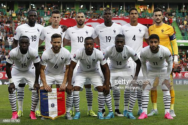 France initial team during the Friendly match between Portugal and France on September 04 2015 in Lisbon Portugal