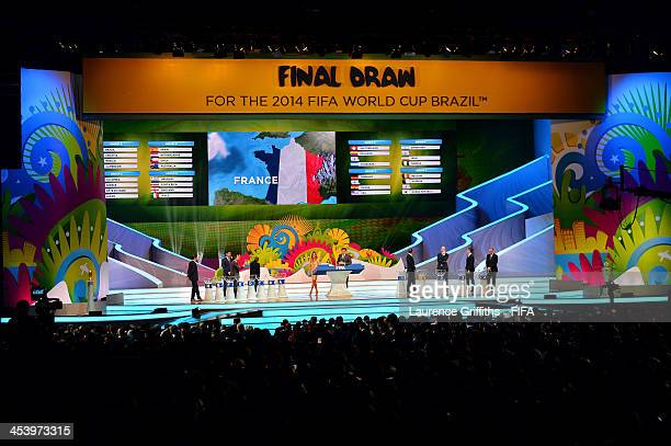 France is drawn from the pot during the Final Draw for the 2014 FIFA World Cup Brazil at Costa do Sauipe Resort on December 6 2013 in Costa do Sauipe...