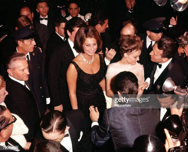 France Italian actress Sophia Loren is pictured surrounded by fans and press photographers at the Cannes Film Festival
