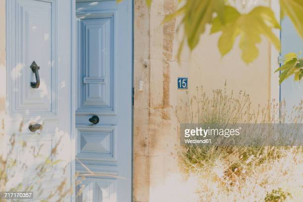 France, Languedoc, old French door