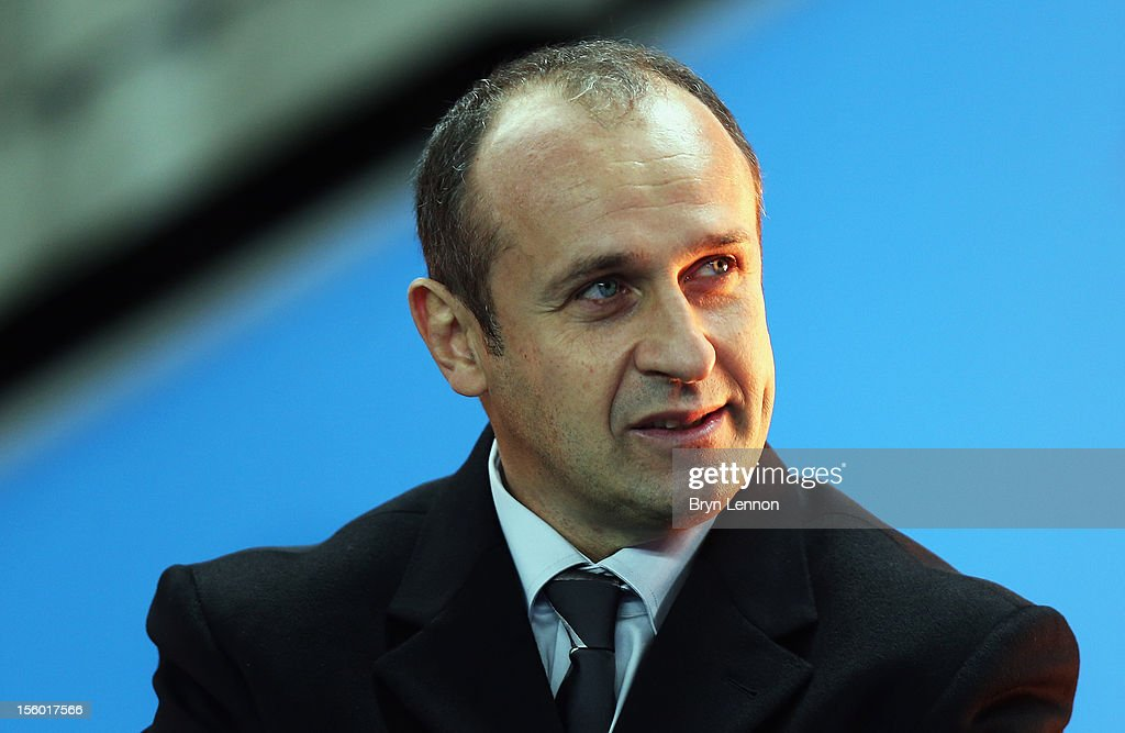 France Manager Philippe Saint-Andre looks on prior to the Autumn International match between France and Australia at Stade de France on November 10, 2012 in Paris, France.