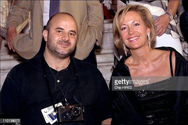 France managing director Elisabeth Sandager and sipa photographer at Jean Michel Jarre performs in Akropolis in Athens Greece on June 20 2001
