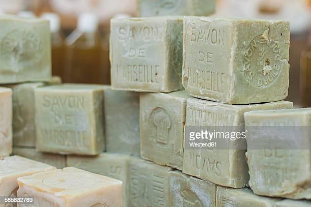 France, market, green soaps