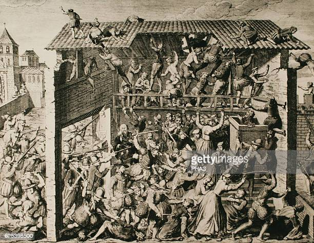France Massacre of Vassy Murder of Huguenot worshipers and citizens in an armed action by troops of Francis Duke of Guise in Wassy France on 1 March...
