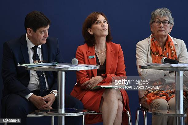 France Mediation President Chantal Uytterhaegen French Minister of Urban Affairs Youth and Sport Patrick Kanner and French Minister for Families...
