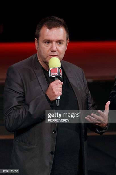 France Musique radio station's host Christophe Bourseiller speaks during a press conference announcing the 20112012 programs of the French public...