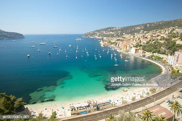 France, Nice, Miediteranean sea and beach