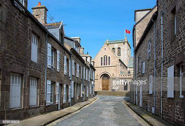 France Normandy Barfleur The Old Houses and The Church Of The Old Country Center